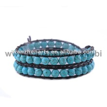 this is 2012 china blue leather cuff bracelet wholesale