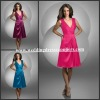 BJ430 Beautiful V-neck A Line Taffeta Wholesale Bridesmaids Dresses