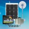 40w portable solar electricity generator system/solar home lighting system for home lighting with USB