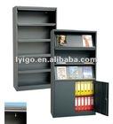 black metal office bookcase cabinet