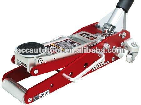 2012 newly aluminum floor jack auick lift dual pump 1.5T hydraulic jack car jack garage equipment dual pump design