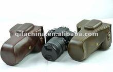 Factory Manufacturer Fashion Classic Digital Camera Hard Bag Case Cover Genuine Leather Real For DSLR SLR