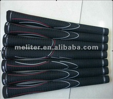 Maximum feedback and shock absorbing golf grips