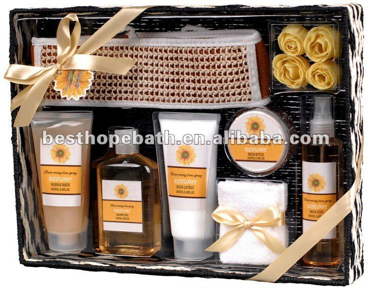 OEM romantic bathing basket bath gift set, View nice basket bath ...