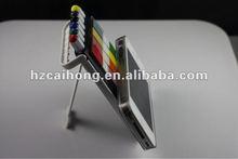 Popular mobile phone case model pen 6 in 1 pen set including highlighter&ball pen&pencil with mobile phone holderCH-6258B