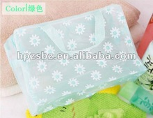 Printing flower pvc handbags ,Hand woven bag,Beautiful plastic tote bag,