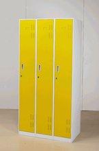 yellow 3-door steel locker metal locker/home office furniture