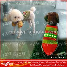 led flashing pet dog vest for dogs with custom logo on