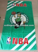 Famous basketball OEM promotional reactive printed velour beach towel