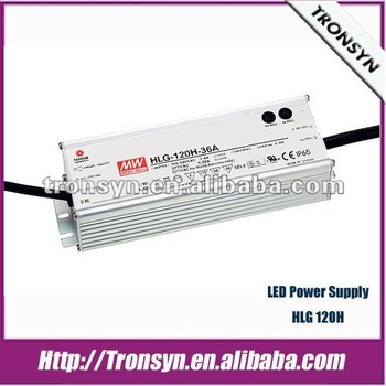 Meanwell LED Driver/Meanwell Power Supply HLG-120H 120W IP67/IP65 Led Driver Module with Dimming Function