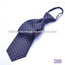 classic black white neat zipper silk necktie