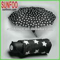 5 pliegues paraguas de aluminio luces portátiles