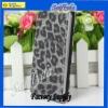 Hot selling Leopard skin flip design PU cover case for iphone 5