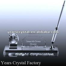 Green Pen Holder Useful Glass Pen Holder Crystal Pen Holder For Company Table Gifts