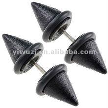 Black double ear piercing taper /ear piercing jewelry /body jewelry