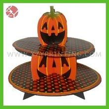 pumpkin design halloween supplier cake display