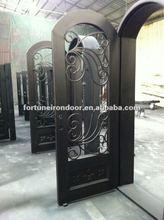 Custom wrought iron door with good cast iron door pull handle