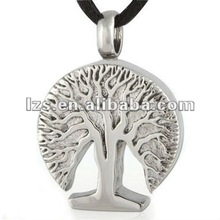 Silver plated tree of lilfe pendant