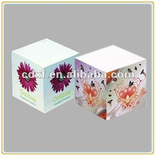 Custom Beautiful paper Note Cube as Gift