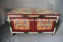 chinese antique furniture/tibetan painting cabinet
