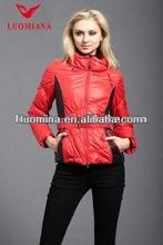 2014 hot sale fashionable elegant brand name leather jacket for women