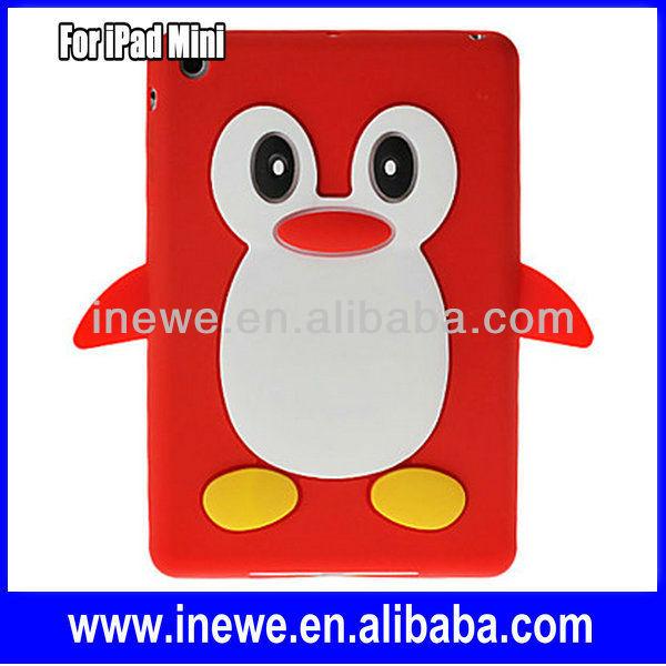 Penguin Animal Shape Cute silicone case for iPad Mini