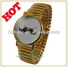 Cute ASOS style Moustache fashion gold watch moustache