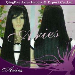 beautiful long black straight lace front 100% kanekalon fiber wig