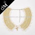 moda glod catena gioielli uncinetto snl0128 collana bianca