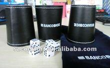 Cacho poker cube set in velvet bag
