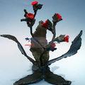 Dia de natal Artificial decorativa flores de fibra de vidro