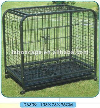 assemble dog cage 125X76X100cm