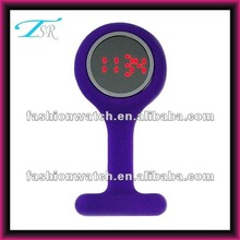 2013 new designed free logo alloy case nurse silicone mirror face led watch