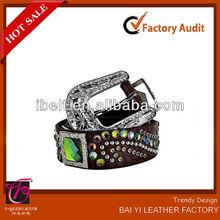 AB crystal concho cowgirl brown bling rhinestone handmade western belts