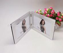 Prata moldura dupla foto, Top - qualidade