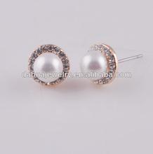 shell pearl steel post allergy free earrings