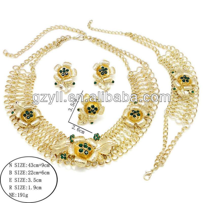Conjuntos de jóias de ouro conjuntos de jóias feitas na china