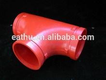 FM UL fire fighting pipe fittings tee