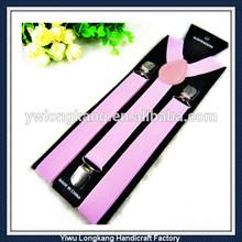 Wholesale Cheap Price Classic Solid Color Suspenders plain color braces suspenders
