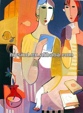 Hechos a mano abstracta de arte de la pintura