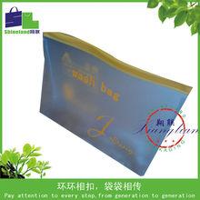 PVC wash bag with zipper top