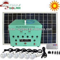 50W portable solar generator FS-S204 with MP3 and FM