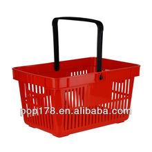 Hot Selling plastic Handle Baskets,plastic Storage Baskets With Handle,Single Handle Basket