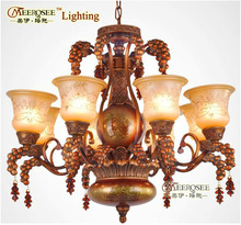 2013 Hot Country Style Modern Colored Glass Chandeliers With 8 Light MD2912CH8 D800mm H650mm