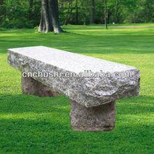 Modern Pink Granite Garden Sitting Bench