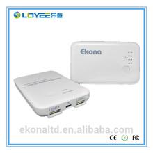 Portable dual USB output 5000mAh mobile power