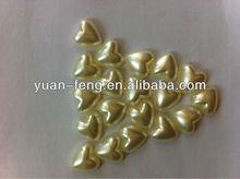 heart shape pearl color beads