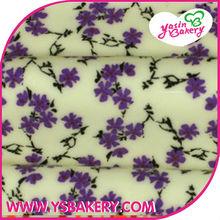 Lavender Chocolate Edible Cake Transfer Sheets