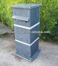 Grey granite post box/ letterbox/mailbox Statue For Sale