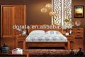 2012 novo estilo de madeira quarto conjuntos de mobiliário em madeira maciça e placa de MDF para a casa móveis